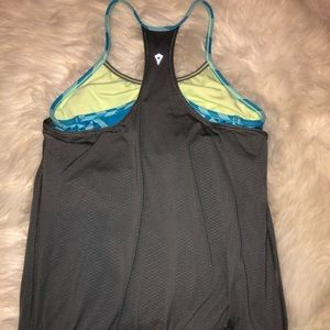 ivivva tank top with built in sports bra